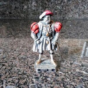 Vintage WAPW king Henry Viii pewter figure